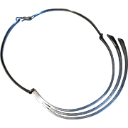 Betty Cooke Modernist Sterling Silver Necklace Circa 1950's
