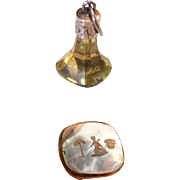 Victorian Intaglio Wax Seal/Fob w/ Secret Message 10k, Citrine