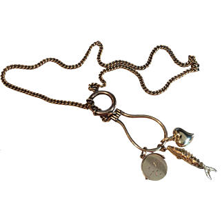 Vintage GF Watch Chain  (Charms Display Only)