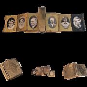 Late Victorian Miniature 12 Photo Album Book Locket Family Portraits