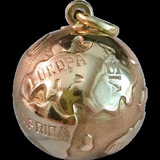Great Around the World 18k Gold Globe Charm