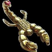 14k Gold Scorpion Hair Clip/Barrette