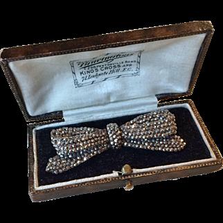 Beautiful French Victorian Cut Steel Pin/Brooch