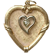 Beautiful Vintage 14k Gold Heart Charm Pendant