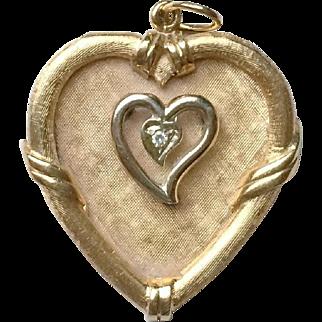 Beautiful Vintage 14k Gold Heart Charm Pendant
