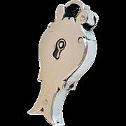 Rare Sterling Silver Georgian Padlock Pendant