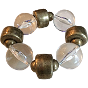 Vintage Lucite and Metal Stretch Bracelet