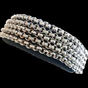 Fabulous Vintage Italian Sterling Silver Chain Bracelet
