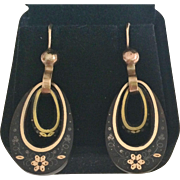 Elegant Antique Pique Drop Earrings
