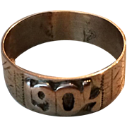 14k Rose Gold Date Ring 1904