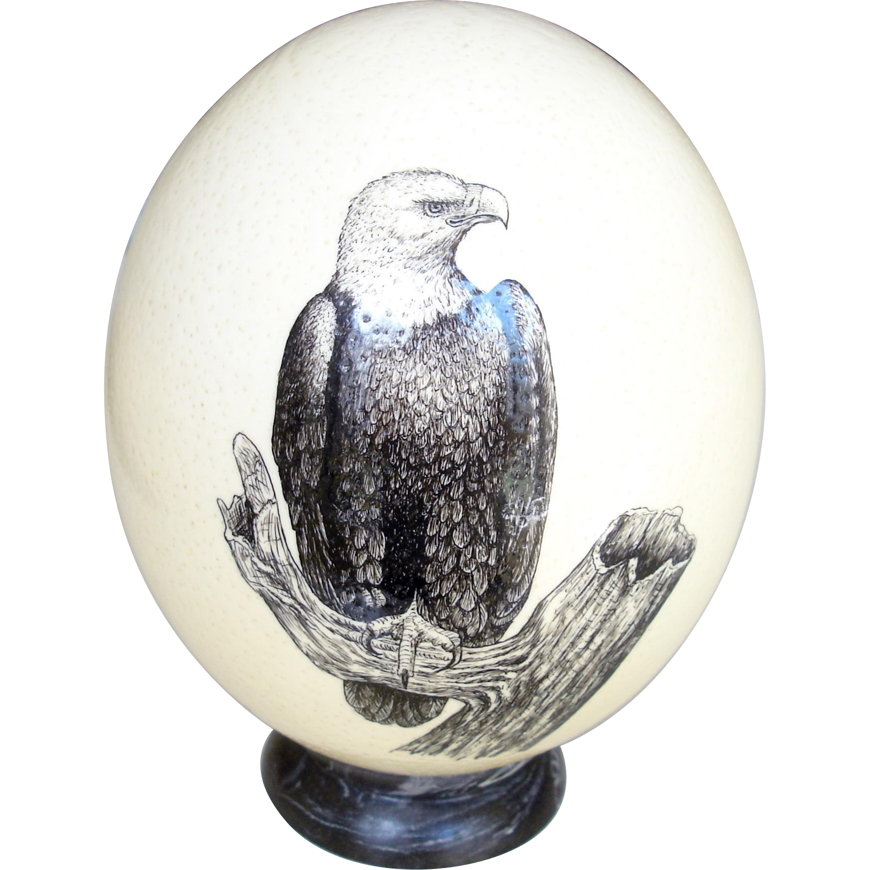 Superbly Decorated Ostrich Egg, South Africa Hugh Dill