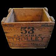 Wooden Flexible Trolley Hardware Box
