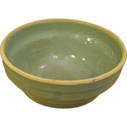 Vintage Green Western Stoneware Seven Inch Mixing Bowl