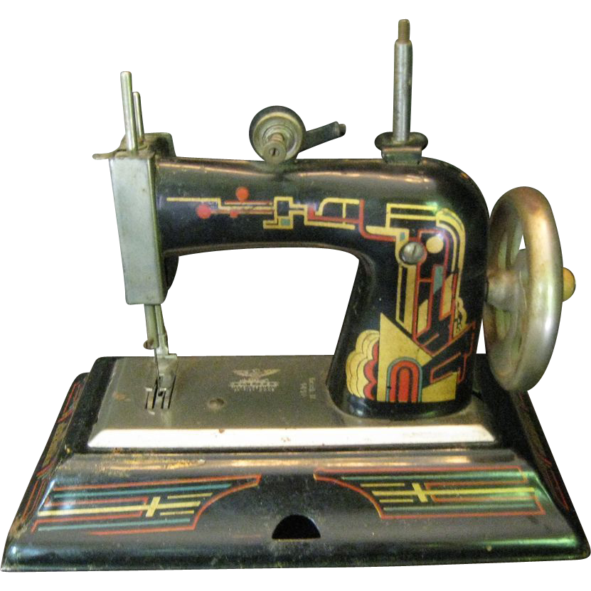 Casige german toy sewing machine with art deco style for Decor 99 sewing machine