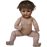 Nippon Bisque Socket Head Baby Doll, 15 Inches, ca Early 1900s