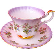 Royal Albert Winsome Pattern Cup and Saucer, 1960s to 1970s