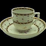 Antique Vienna Cup & Saucer c. 1780