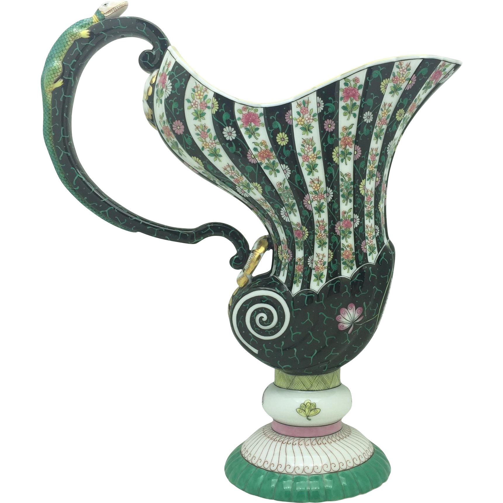 Rare Herend Black Dynasty Pitcher