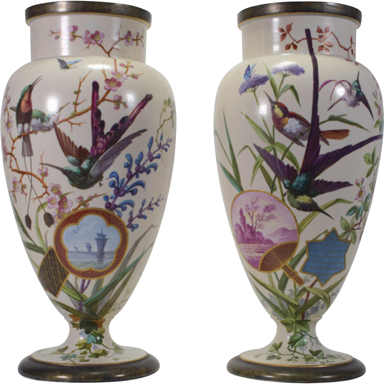 Pair of French Aesthetic Period Vases, circa 1900