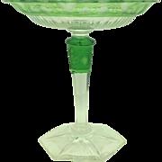 Steuben Cased Cut Glass Compote