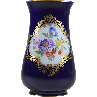 Meissen Signed Hand-Painted Bud Vase