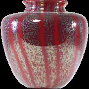 Red Chintz Rare Libbey Nash Bulbous Vase