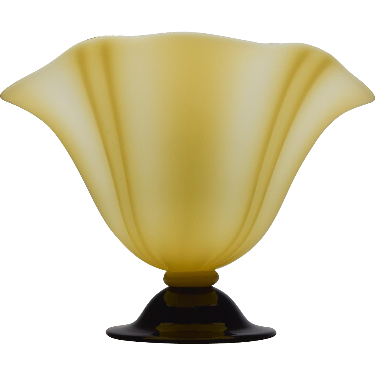 "Steuben Ivory & Black ""Grotesque"" Vase"