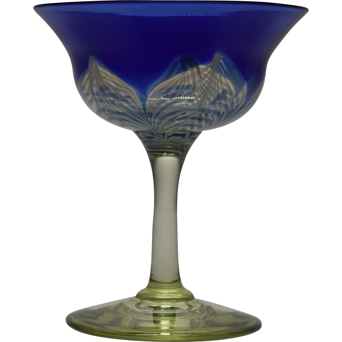 Durand Pulled Feather Blue Compote