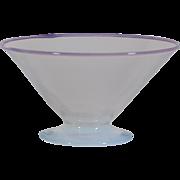 Steuben Opal & Cintra Art Deco Bowl