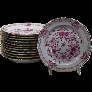 6 Meissen Dessert Plates
