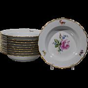 10 Meissen Soup Bowls