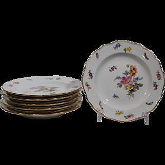 6 Meissen Bread & Butter Plates