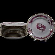 """12 Meissen """"Rich Court Dragon"""" Dinner Plates"""