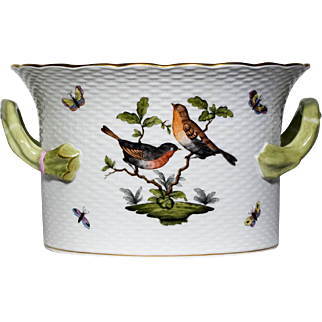 Herend Hand Painted Large Cache Pot