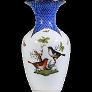 Herend Blue Rothschild Bird Vase