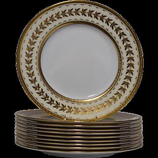 10 Minton Dinner Plates