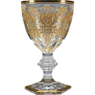 Tall Baccarat Empire Water Water Goblet