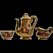 Royal Worcester Handpainted Fruit Coffee/Tea Set