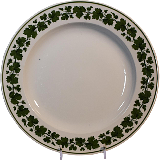 4 Meissen Green Ivy Plates
