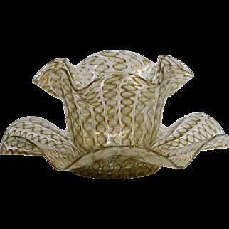 Salviati Lattichino Handblown Bowl & Underplate