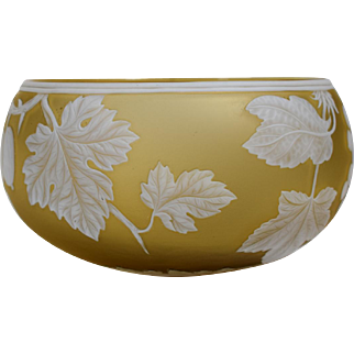 Webb Cameo Bowl Carved with Fruits