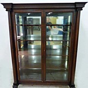 Large Double Door Mahogany China Closet