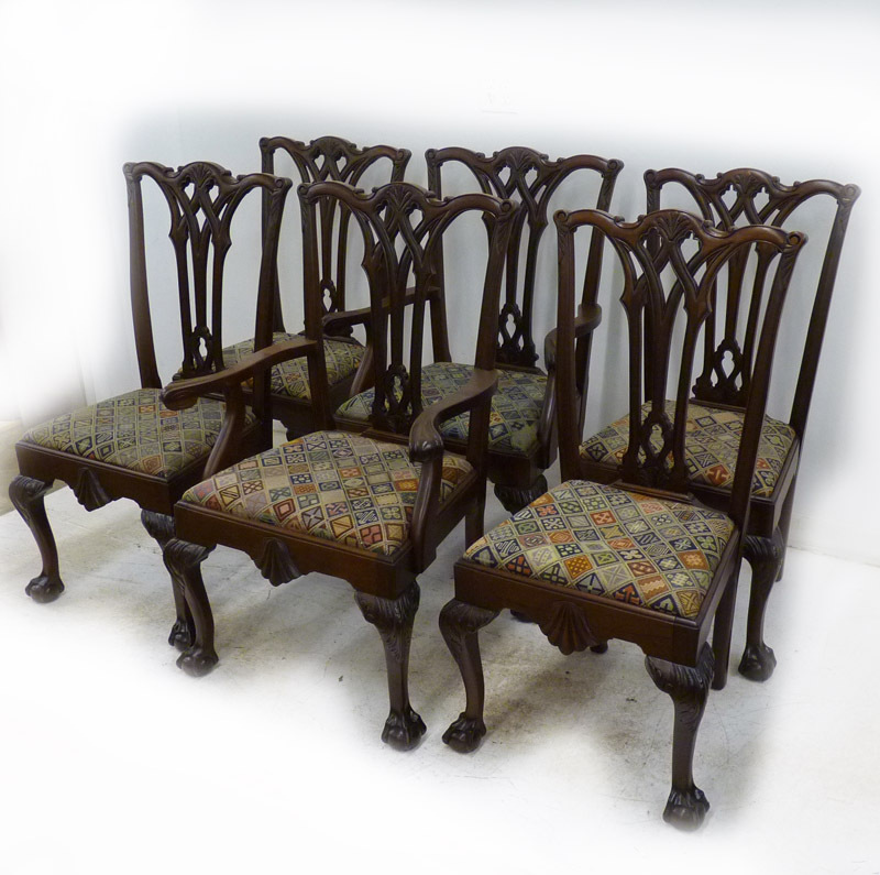 Set of 6 Chippendale Style Chairs