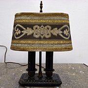 """Rembrandt"" Desk Lamp with Original Mesh Shade"