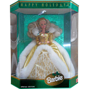 1994 Holidays Barbie  #12155  Mint in Box Dressed in Green Dress with Gold box