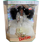 1992 Holidays African American Barbie  #2396  Mint in Box