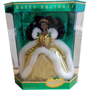 1994 Holidays Barbie  #12156 African American  Mint in Box