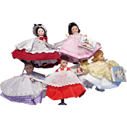 "Madame Alexander ""LITTLE WOMEN""  8 inches  5 Doll Set  original boxes"