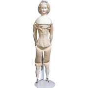 Vintage Marked Emma Clear Parian Doll 18 Inches Tall  '47
