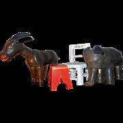 Schoenhut Humpty Dumpty Circus Starter Set - Elephant Donkey Accessories